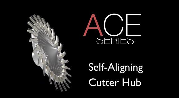 Self aligning knife hub