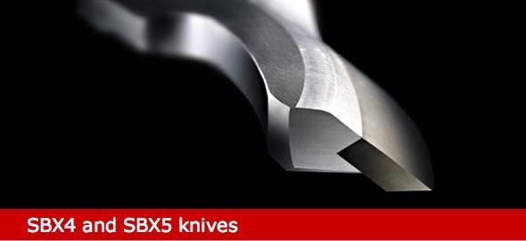 SBX curved Nikro plastics blades